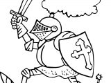 Knight Armor Free Coloring Page