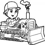 Manny Bulldozer Coloring Page