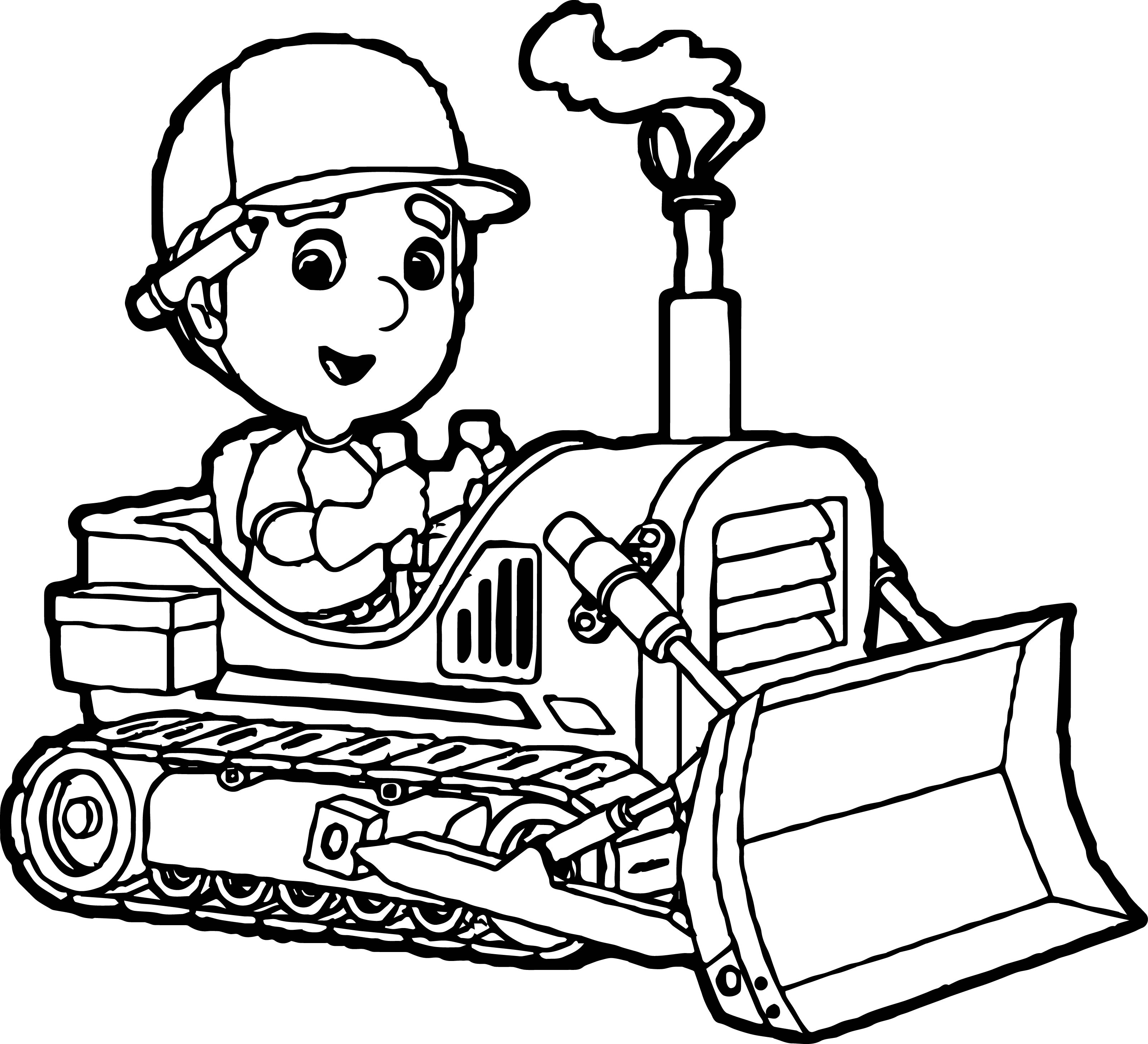 bull dozer coloring pages - photo#22