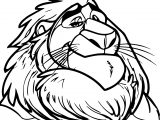 Mayor Lion Zootopia Coloring Page