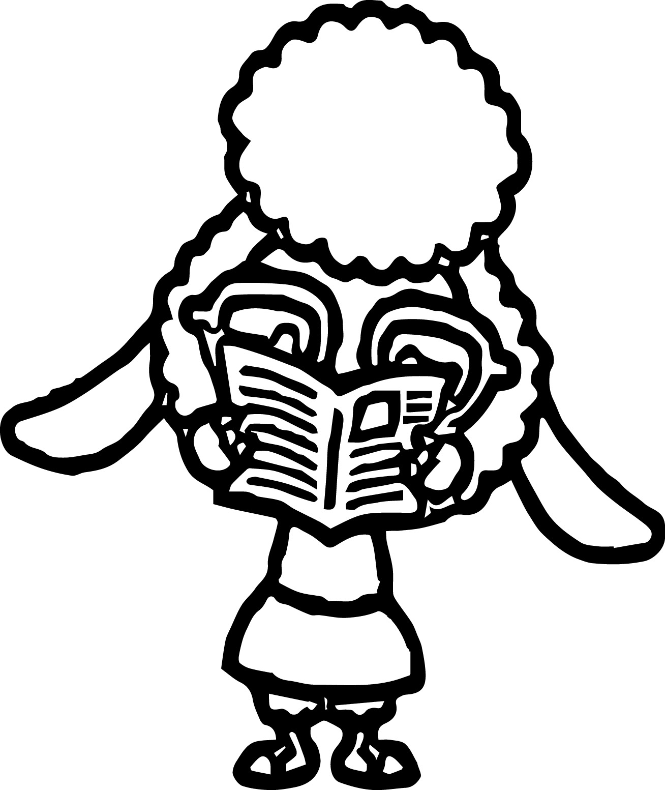 Sheep zootopia read a newspaper coloring page