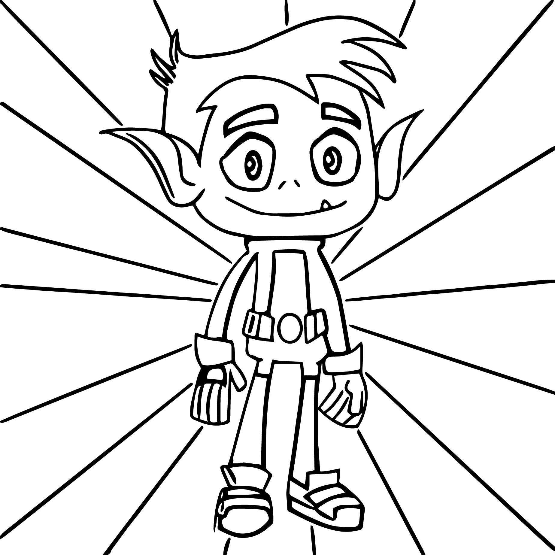 teen titans go beast boy coloring pages - Picture Of A Boy To Color