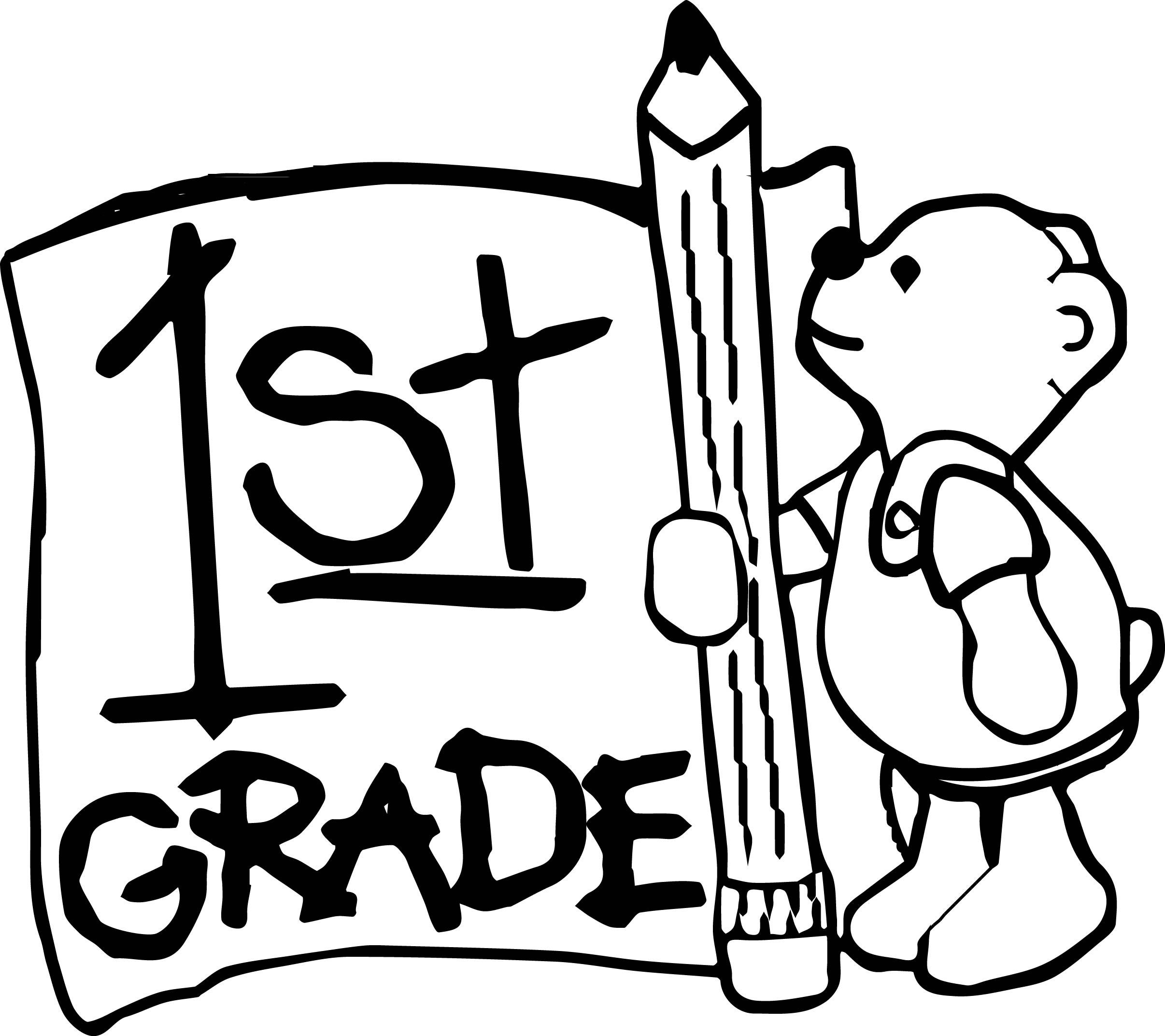 1st grade bear coloring page for Coloring pages for first graders