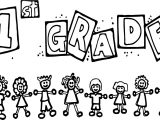 1st Grade Children School Coloring Page