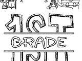 1st Grade School Coloring Page