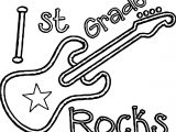 1st grade school guitar coloring page