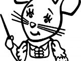 1st Grade School Mouse Coloring Page
