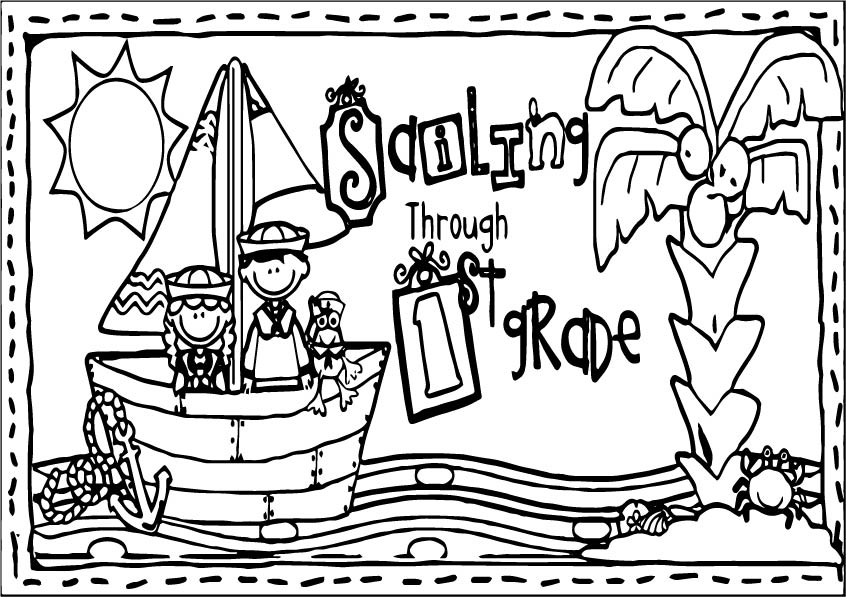 1st Grade School Picture Coloring Page