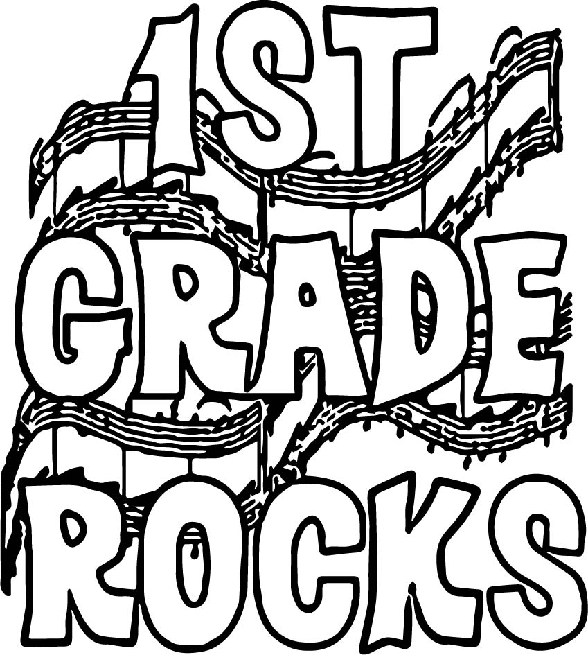 School of rock coloring pages