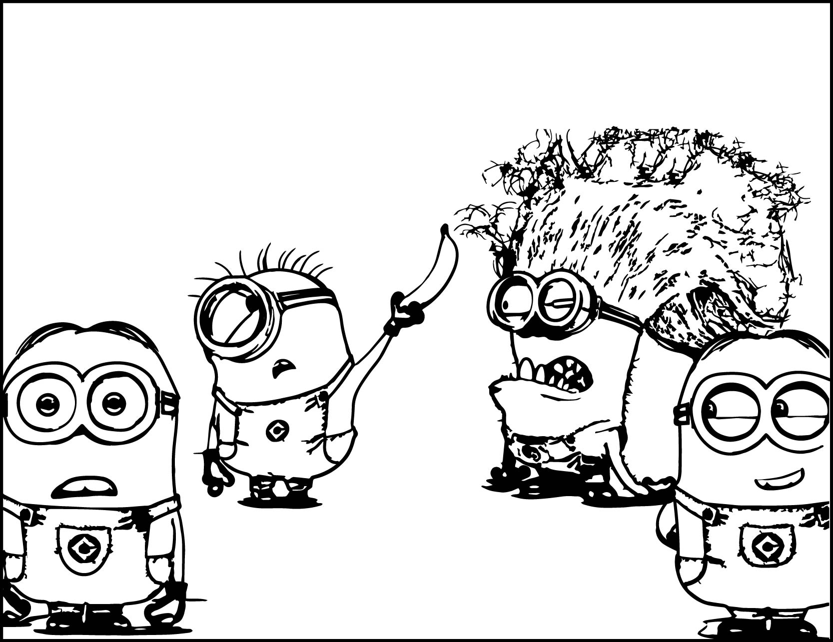 Evil Minion Despicable Me 2 Pages Coloring Pages