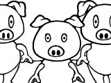 3 Little Pigs Shock Coloring Page