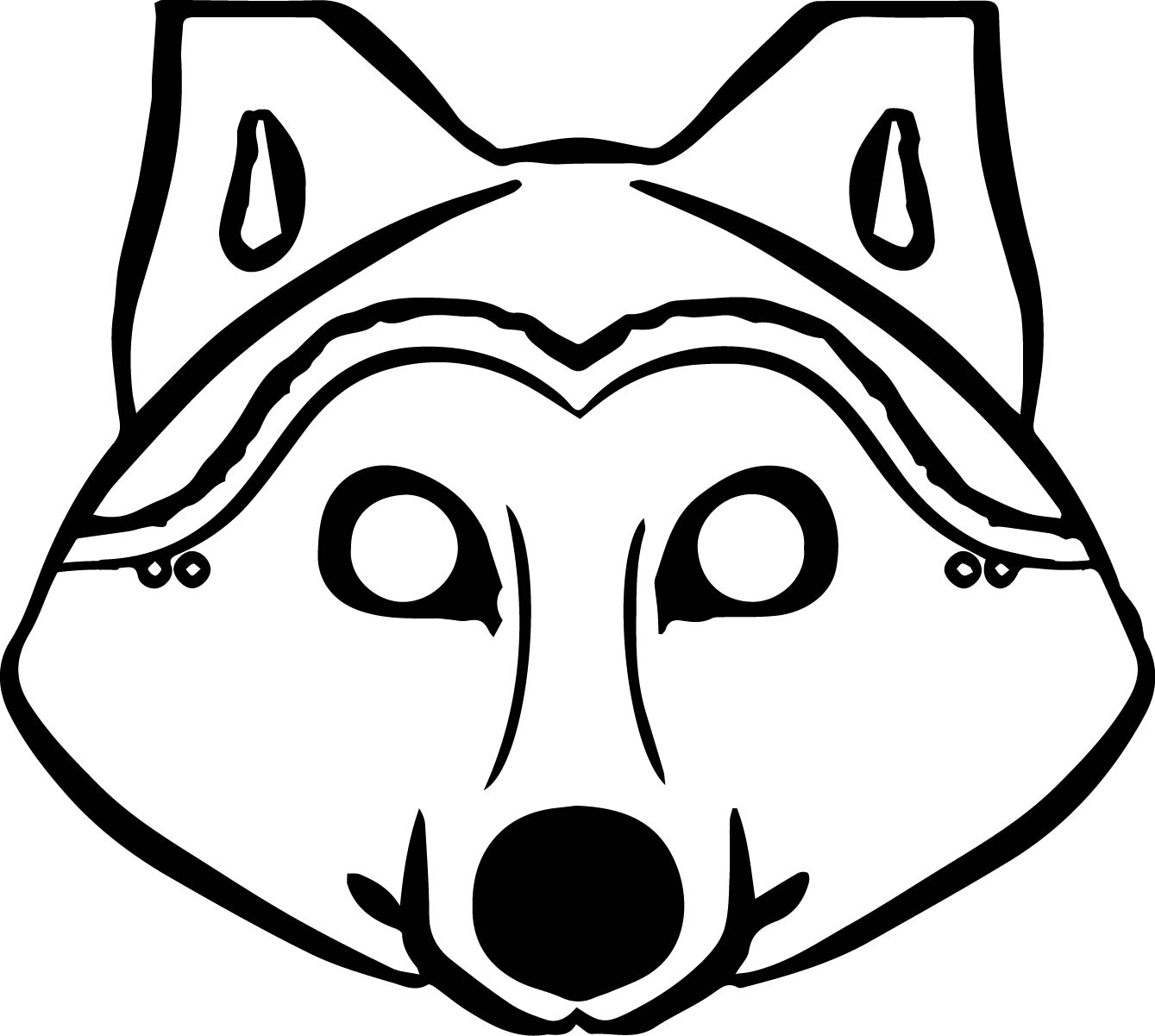 3 pigs wolf mask coloring pages for Coloring pages masks