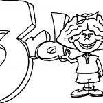 3rd Grade Text And Girl Coloring Page
