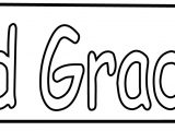 3rd Third Grade Pen Coloring Page