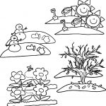 4 Seasons Cartoon Coloring Pages