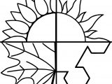 4 Seasons Coloring Page