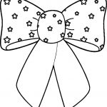 4th Of July Bow Coloring Page