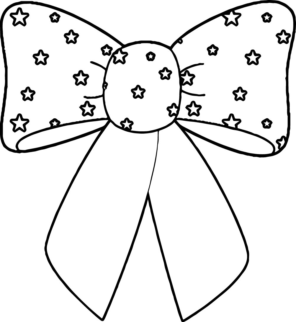 4th Of July Bow Coloring Page | Wecoloringpage.com