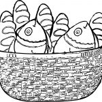 5 Loaves And 2 Fish Basket Coloring Page