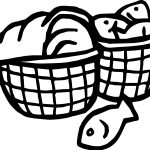 5 Loaves And 2 Fish Bucket Coloring Page