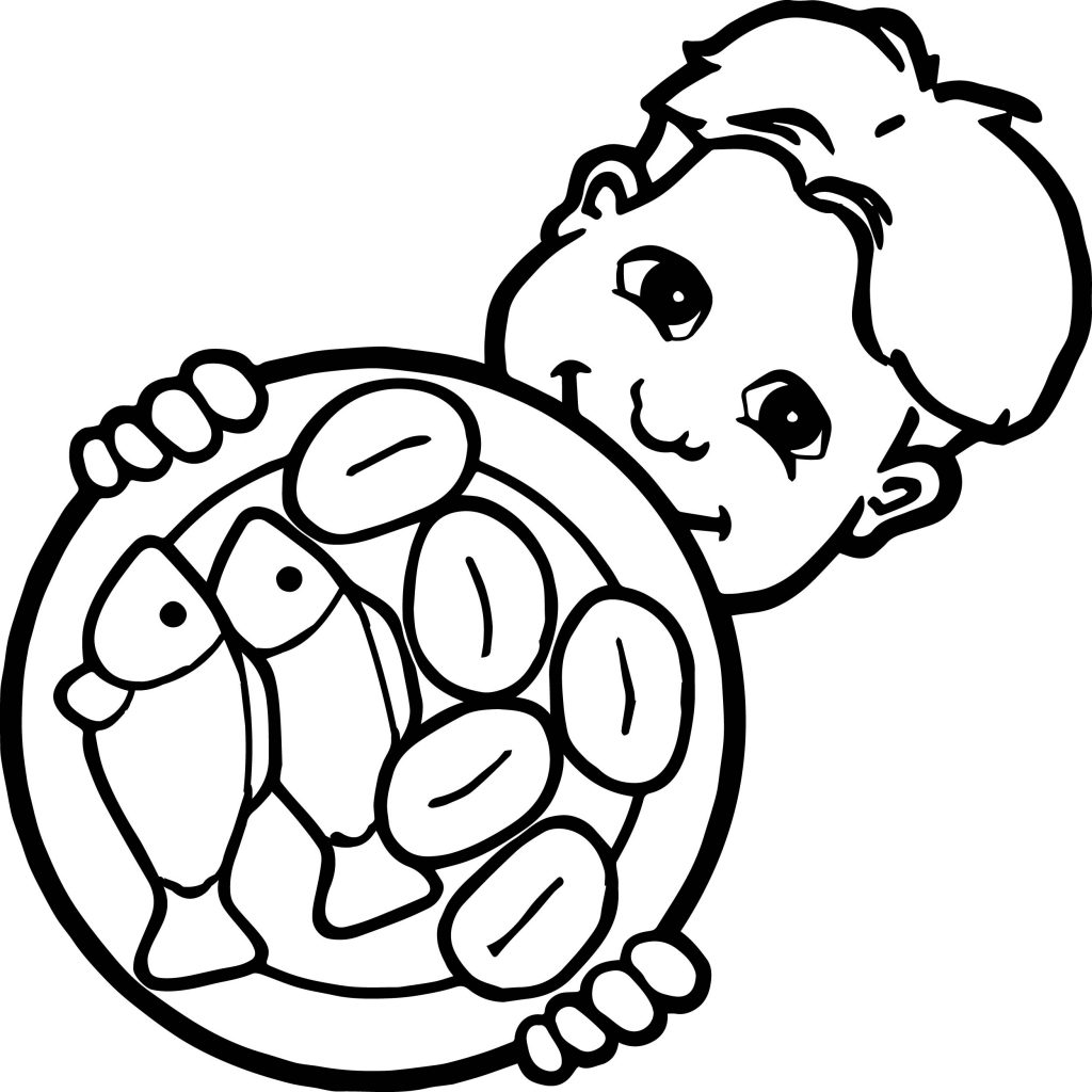fish and bread coloring pages - photo#23