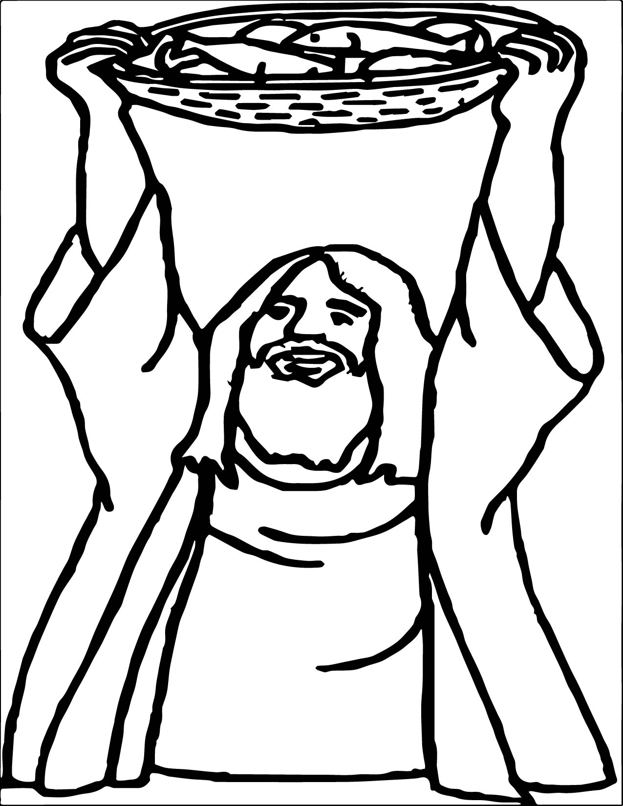 5 Loaves And 2 Fish God Prayer Coloring Page