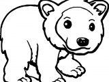 A Illustration Of A Cute Grizzly Brown Or Kodiak Bear Coloring Page