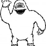 Abominable Snowman Hello Coloring Page