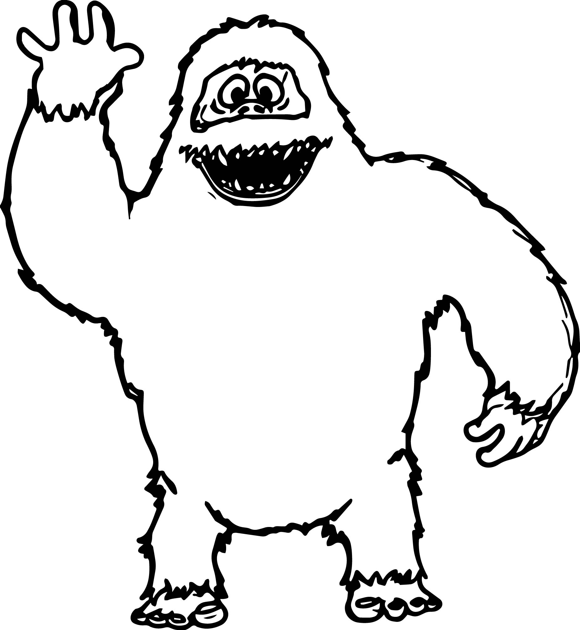 Abominable Snowman Hello Coloring Page Wecoloringpage Hello Coloring Pages
