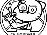 Agent Gumball Circle Coloring Pages