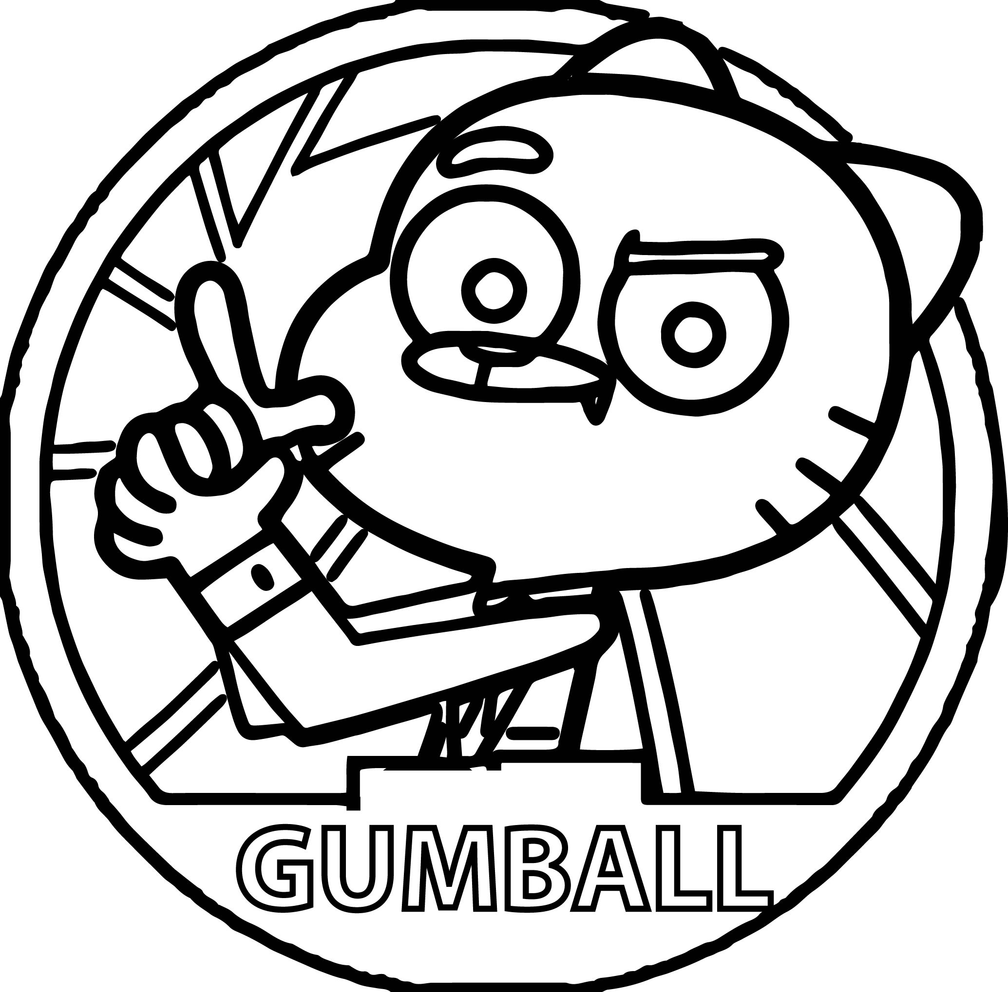 Agent Gumball Circle Coloring Pages Wecoloringpage Circle Coloring Pages