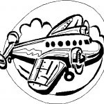 Airplane Circle Coloring Page