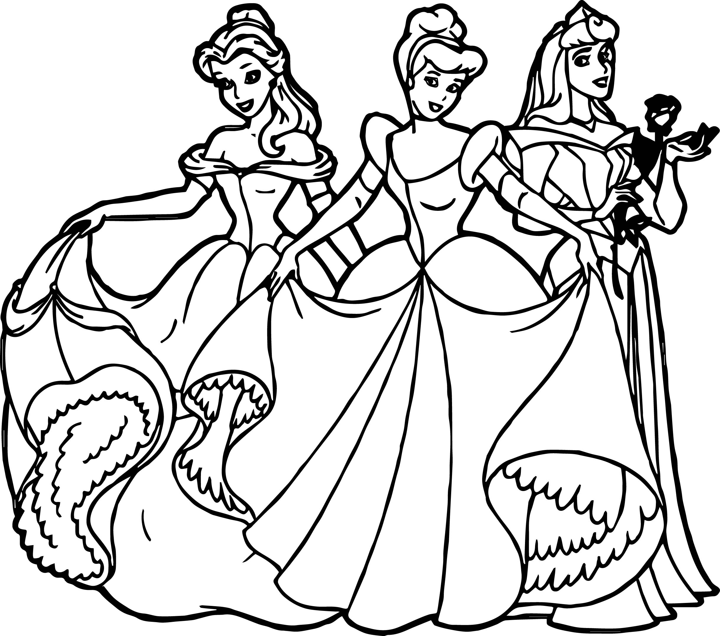 All princess coloring pages - All Disney Princess Coloring Page
