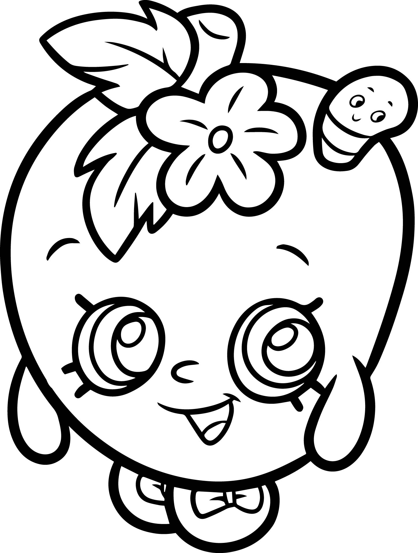 Apple Blossom From Shopkins Coloring Page