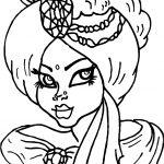 Arabic Princess Free Coloring Page
