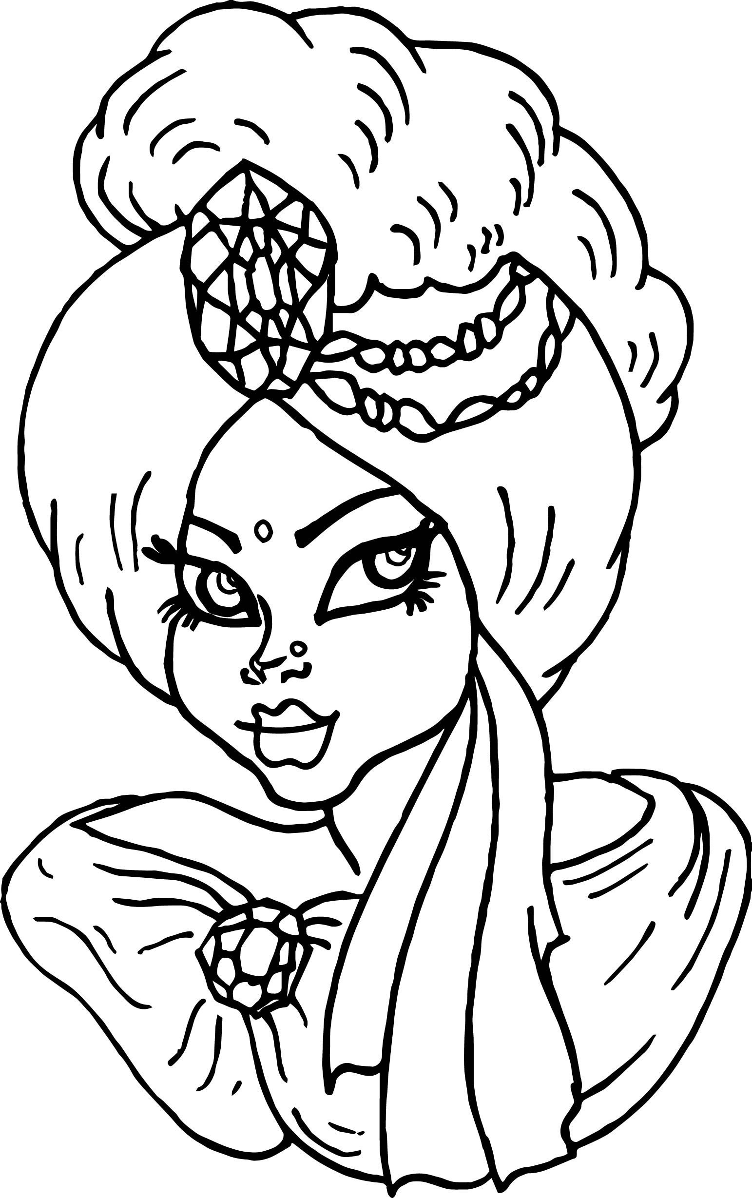 Arabic Princess Free Coloring Page