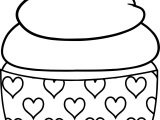 Baby Cupcake Heart Coloring Page