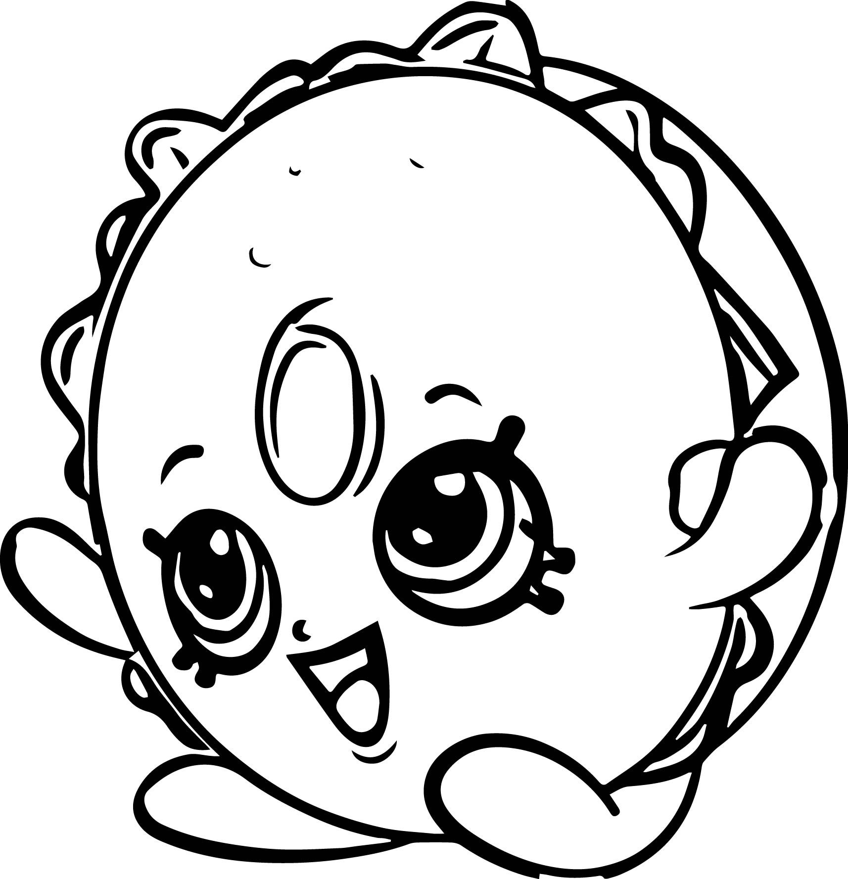 Bagel Billy Coloring Page