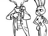 Balo Hopps Bunny Wilde Zootopia Coloring Page