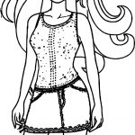 Barbie Dress Coloring Page
