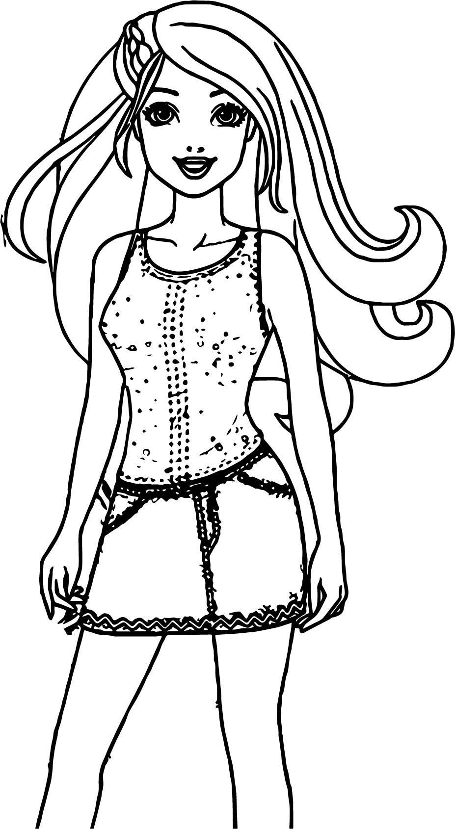 Barbie dress coloring page for Barbie dress up coloring pages