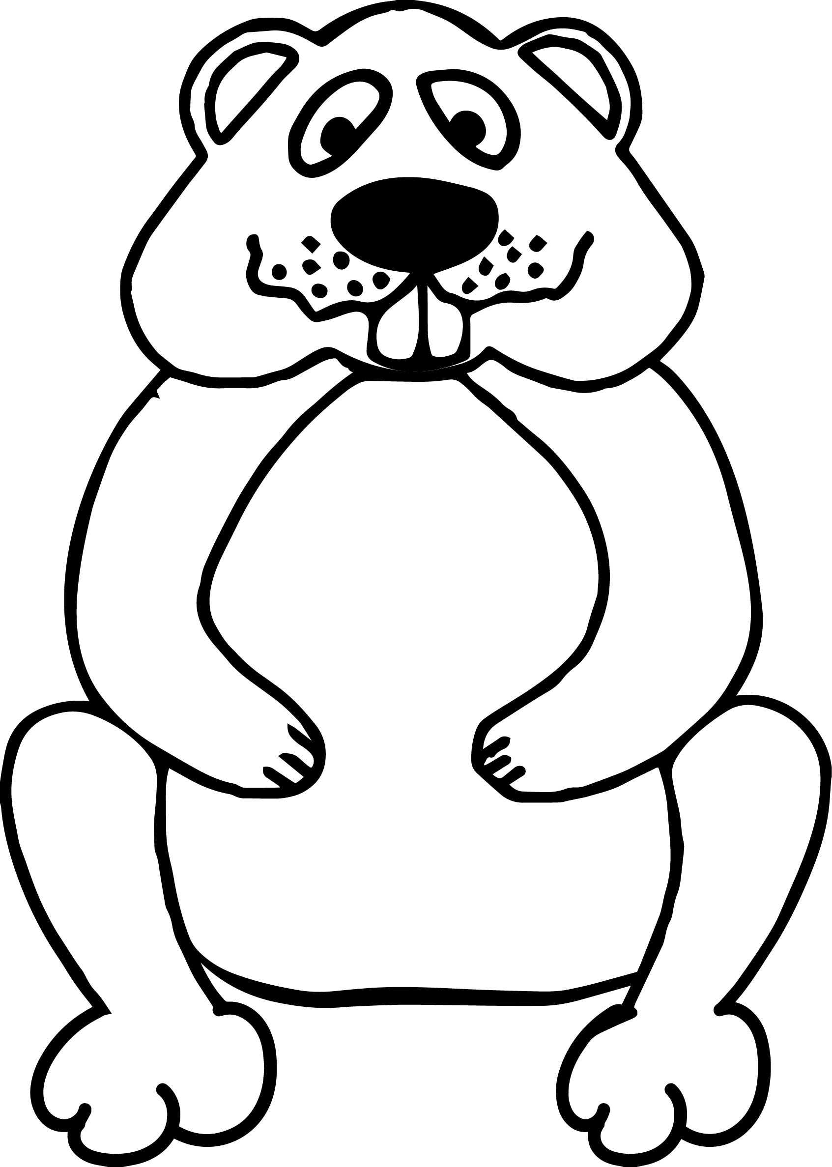 Basic groundhog coloring page for Groundhog color page