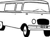 Basic Minibus Coloring Page