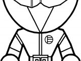 Basic Power Rangers Coloring Page