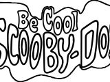 Be Cool Scooby Doo Text Coloring Page