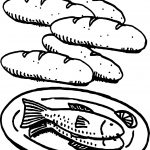 Beautiful 5 Loaves And 2 Fish Coloring Page