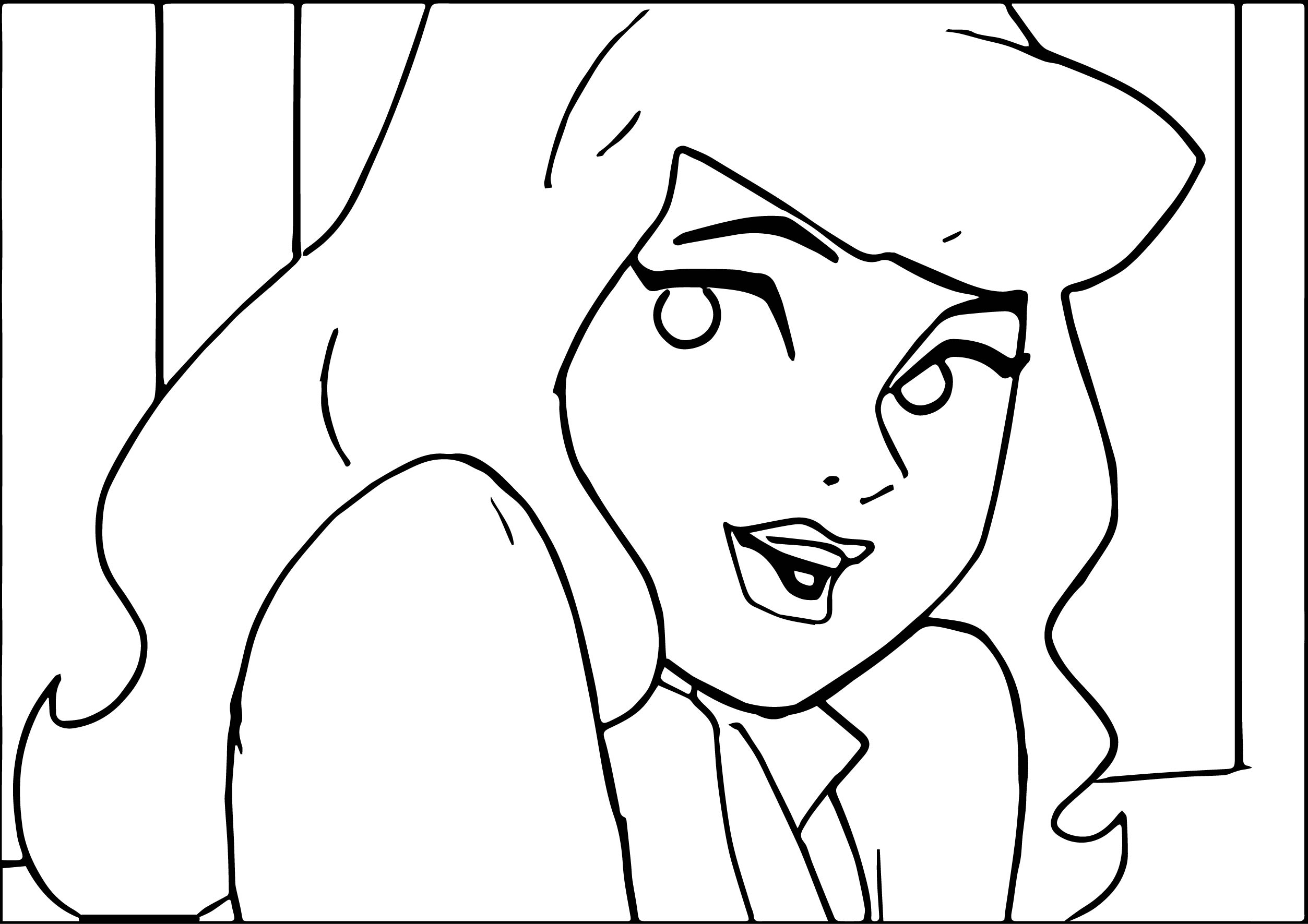 Beautiful Daphne Scooby Doo Coloring Page