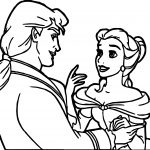 Belle Disney Princess Dancing Coloring Page