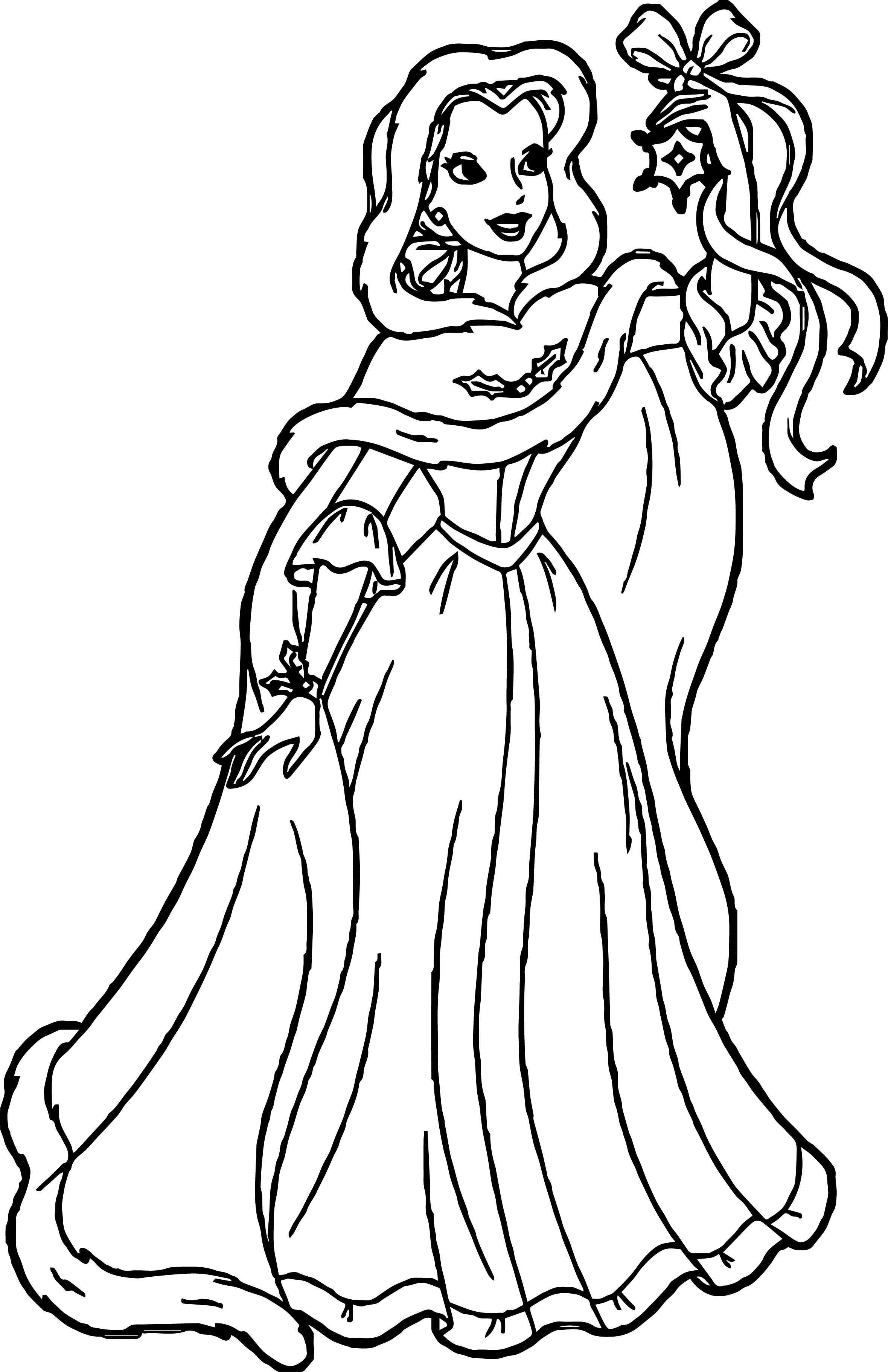 belle disney star princess coloring page wecoloringpage