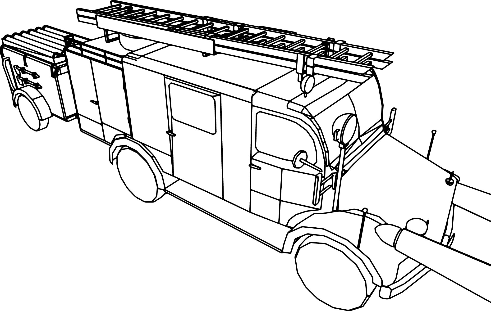 Benz Llg Minibus Coloring Page